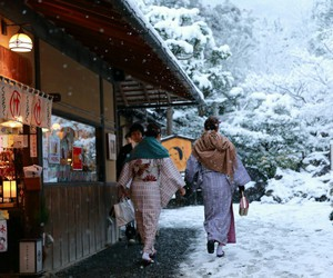japan, japanese, and snow image