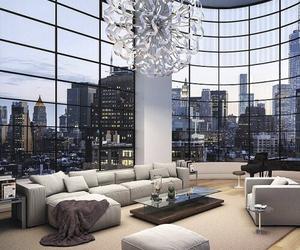 livingroom, luxury, and manhattan image