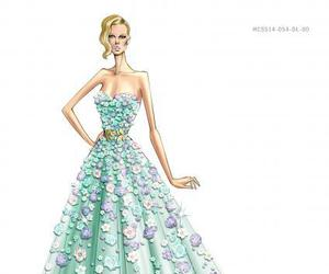 drawing, style, and Zuhair Murad image