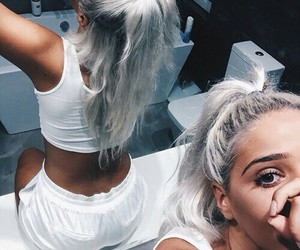 grey, pretty, and hair image