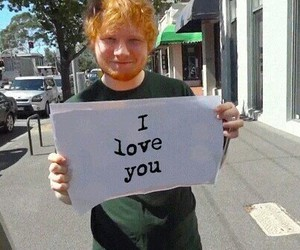ed sheeran, music, and I Love You image