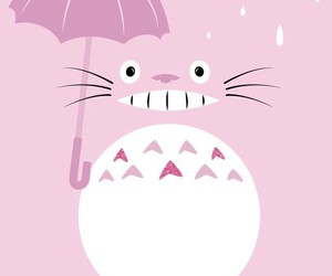 totoro, wallpaper, and pink image
