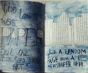 blue, paper towns, and book image