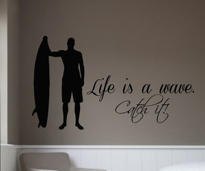 surfing, wall decals, and vinyl stickers image