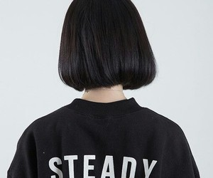 black, hair, and steady image
