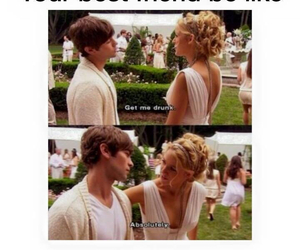 best friends, funny, and gossip girl image