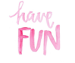 quote, pink, and fun image