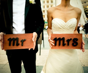 love, wedding, and mrs image