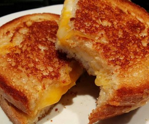 dinner, grilled cheese, and sandwich image