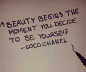 beauty, quotes, and coco chanel image