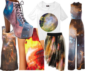 cosmic, fashion, and galaxy image