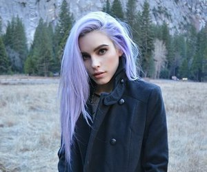 beautiful, lavander, and dyed hair image