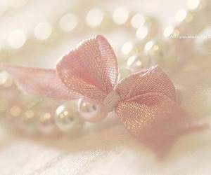 pink, bow, and pearls image