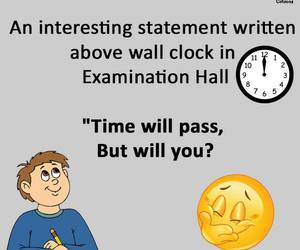exam, funny, and laughing image