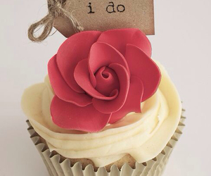cupcake, rose, and flowers image