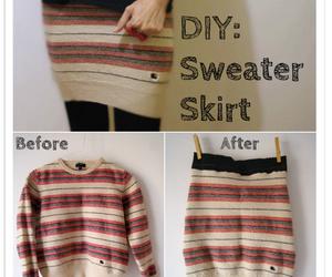 diy, skirt, and sweater image