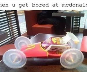car, funny, and mcdonald image
