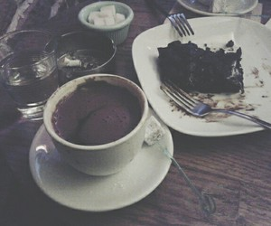 brownie, chocolate, and happy image