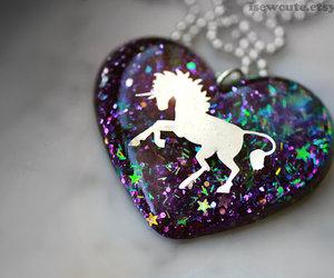 unicorn, heart, and glitter image