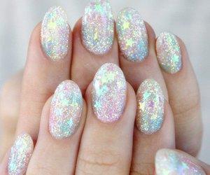 nails, glitter, and stars image