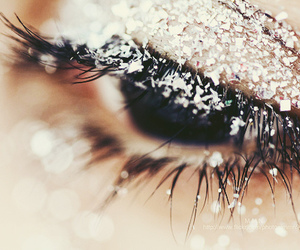 eye, snow, and eyes image