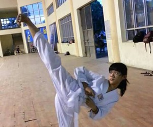girl, vietnamese, and taekwondo image