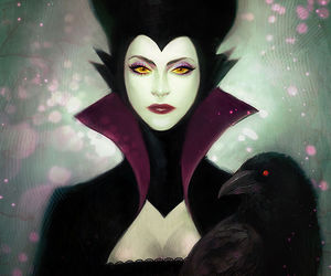 maleficent, disney, and sleeping beauty image