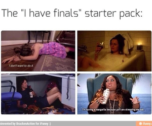 finals, funny, and school image