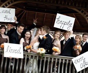 wedding, bride, and happily ever after image
