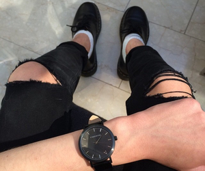 black, shoes, and jeans image