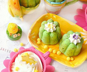 cupcake, dolce, and green image