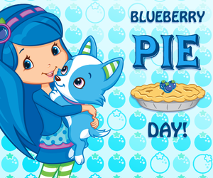 baking, blueberry pie, and puppy image