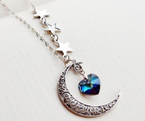 necklace, moon, and jewelry image