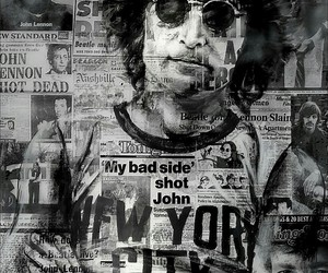 art, john lennon, and the beatles image