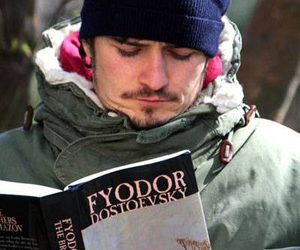 book, dostoevsky, and orlando bloom image
