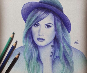 demi lovato, drawing, and demi image