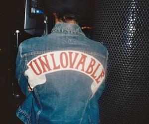 unlovable, jacket, and grunge image