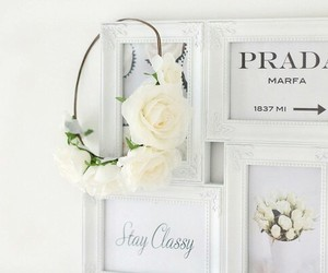 fashion, white, and flowers image