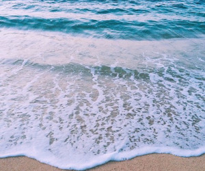 beach, blue, and blue water image