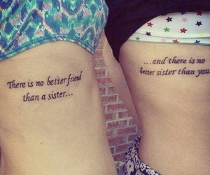 sister and tattoo image