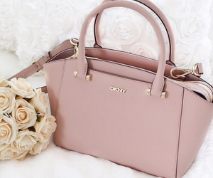 bag, dkny, and flowers image