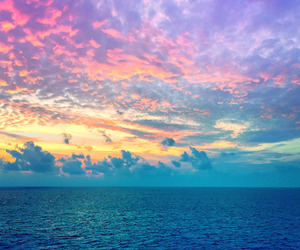 ocean, sky, and summer image