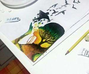 disegno, ragazza, and disegni image