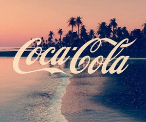 beach, coca cola, and coca-cola image