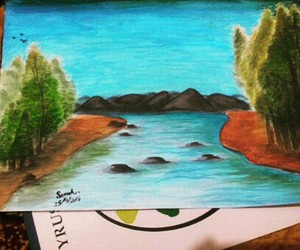 art, drawing, and landscape image