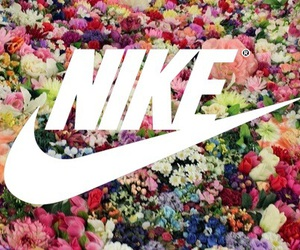 nike, amour, and flowers image