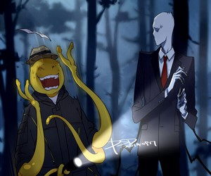 slenderman, korosensei, and anime image