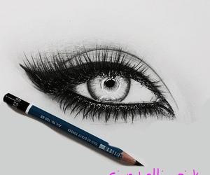 animal, draw, and eye image