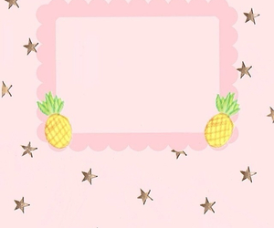 frame, pineapple, and pink image