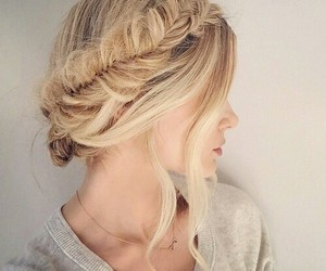 artistic, blonde, and braids image